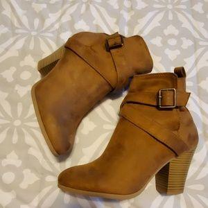 Cute tan booties